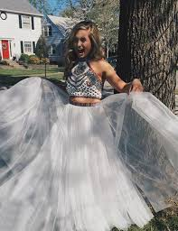 2 piece prom gown two piece prom dresses 2 pieces party dresses