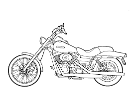 Free Printable Motorcycle Coloring Pages