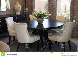 Dining Room Round Table & Chairs Stock Photo - Image Of Vase ... Chner Round Table Table Chairs Wood Style Metal Legs Coffee Modern Round Best Choice Products Kids Midcentury Eames Ding Room Set W 2 Armless Leg Gray Traditional Room Images By D2 Interieurs Small Tables And Appealing Height Light Stylish Interior With White Chairs And Functional Dinette 5 Pieces Fniture Harbor View Chair Lexington 5piece 4 Slat Back Chelsea Package Beige How To Find The Right For Your