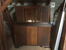 küche oder esszimmer büffet vitrine 1945 eiche massiv