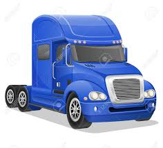100 Big Blue Truck Vector Illustration Isolated On White Background