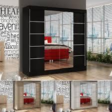schwebetürenschrank basti v 200 cm mit spiegel kleiderschrank mit 2 türen 200x215cm