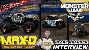 100 Monster Truck Oakland MONSTER JAM MAXD Driver BLAKE GRANGER Interview