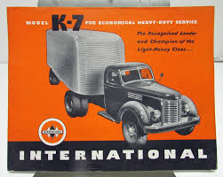 100 1946 International Truck Harvester Model K 7 Sales Brochure
