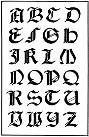 Gothc Clipart Calligraphy 3