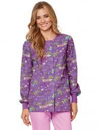 Ceil Blue Print Scrub Jackets by Clearance Print Scrub Warm Up Jackets Lydia U0027s Uniforms