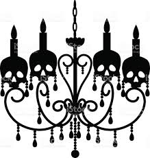 Chandelier With Skulls Royalty Free Stock Vector Art Amp More Images