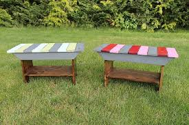 ana white reclaimed wood top benches diy projects