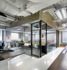 OfficeIndustrial Office Space Ideas With Glass Wall Industrial