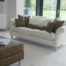 canapé tissu blanc canapé classique en tissu 2 places blanc chic hb