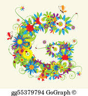 Vector Stock Letter c floral design see also letters in my