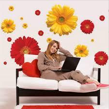 Beautiful Daisy Flower 3D Wall Stickers Kitchen Door Living Room Bedroom Decals Sticker Vinyl Window