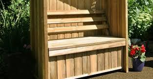 charming garden bench with storage gallery for diy outdoor storage