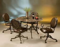 Upholstered Chairs With Wheels Caster Kitchen And Dining Chairs ...