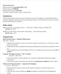E Learning Resume Example With Data Scientist Sample Science Examples Online