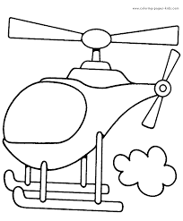 Helcopter Color Page Transportation Coloring Pages Plate Sheetprintable Picture