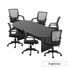 GOF 6FT, 8FT, 10FT Conference Table Chair (G10900B) Set, Cherry, Espresso,  Mahogany, Walnut, Artisan Grey (8FT With 6 Chairs, Espresso) Mayline Sorrento Conference Table 30 Rectangular Espresso Sc30esp Tables Minneapolis Milwaukee Podanys 6 Foot X 3 Retrack Skill Halcon Fniture 10 Boat Shape With Oblique Bases 8 Colors Classic Boatshaped Vlegs 12 Elliptical Base Nashville Office By Kayak Atlas Round Dinner W Faux Marble Top Cramco Inc At Value City Boardroom Source