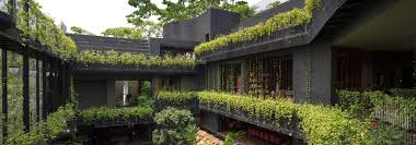 100 Singapore House CHANG Architects Creates Stepped Garden On Roof Of House In