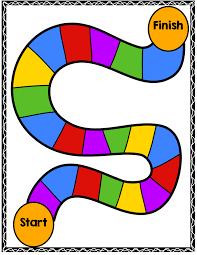 Game Board Path Clipart
