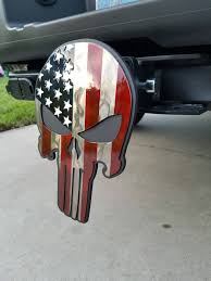 100 Truck Hunting Accessories American Flag Punisher Trailer Hitch Cover Hitch Plug Hitch Cover