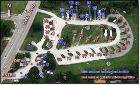 Sites Layout By Southgate RV Park