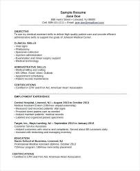 Medical Assistant Resume Objective Examples Entry Level From Billing And Coding Professional