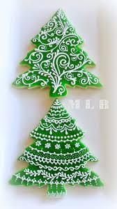 My Little Bakery Christmas Tree CookiesAnd Polish Glaze