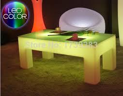 rectangle luminous coffee table led light table waterproof living