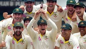 Australias Cricket Team Celebrates After Retaining The Ashes Trophy Defeating England On Final Day