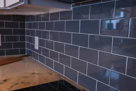 kitchen backsplash blue gray interior design