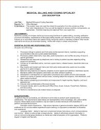 Resume Objective Examples For Medical Coding And Billing Awesome Ultimate Samples With