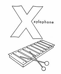Alphabet Coloring Pages Xylophone