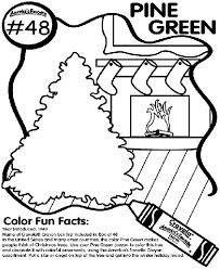No48 Pine Green Coloring Page