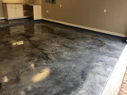 Recently Installed Metallic Epoxy Floor Coating For Commercial Or Residential Application