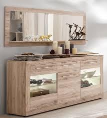 sideboard mit spiegel sandeiche weiss woody 93 01007 holz