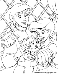 Eric And Ariel With Their Baby Little Mermaid Sfeba Coloring Pages