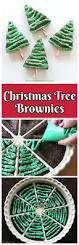 Rice Krispie Christmas Tree Treat Recipe by Christmas Tree Brownies Christmas Tree Brownies Brownies And