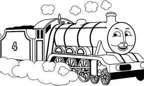 Thomas The Train Clipart Black And White