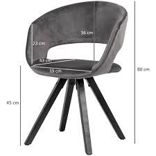 wohnling esszimmerstuhl samt dunkelgrau mit schwarze beine modern küchenstuhl mit lehne stuhl mit holzfüßen polsterstuhl maximalbelastbarkeit