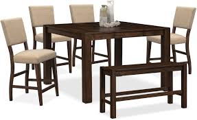 Value City Furniture Kitchen Table Chairs by The Tribeca Counter Height Dining Collection Tobacco Value