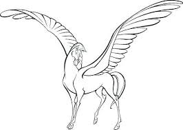 Realistic Horse Coloring Pages Beautiful Of With Wings Printable Arabian