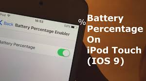 Battery Percentage on iPod touch IOS 10