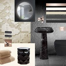 Dornbracht Kitchen Faucet Rose Gold by Parisian Town House Renovation Moodboard For 3 Bathrooms Black