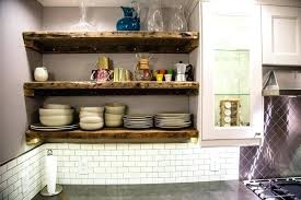 Wood Floating Shelves Kitchen Perfect Interesting Reclaimed Best Wooden