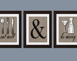Shabby Chic Kitchen Wall Art Eat And Drink Be Merry Print Decor