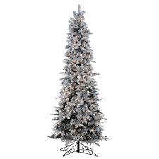 Pre Lit Flocked Artificial Christmas Trees by Christmas Christmas Skinny Tree Black Unique Pencil Ideas On
