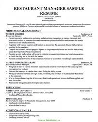 Special Restaurant Manager Resume Examples Assistant Sample Fieldstatio Genera Large Size