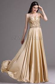 edressit gold spaghetti sequins lace prom dress ball gown 00165624