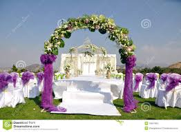 Stock Images Outdoor Wedding Scene Image
