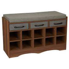 Amazon.com: Household Essentials Entryway Shoe Storage Bench With ... Fniture Entryway Bench With Storage Mudroom Surprising Pottery Barn Shoe And Shelf Coffee Table Win Style Hoomespiring Intrigue Holder Cushion Wood Baskets Small Wooden Unbelievable Diy Satisfying Entry From Just Benches Acadian